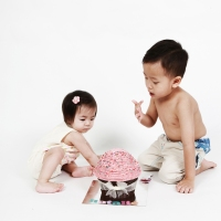 Siblings Cake Smash Photography Hong Kong
