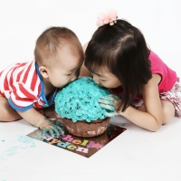 Siblings Cake Smash Photography Hong Kong